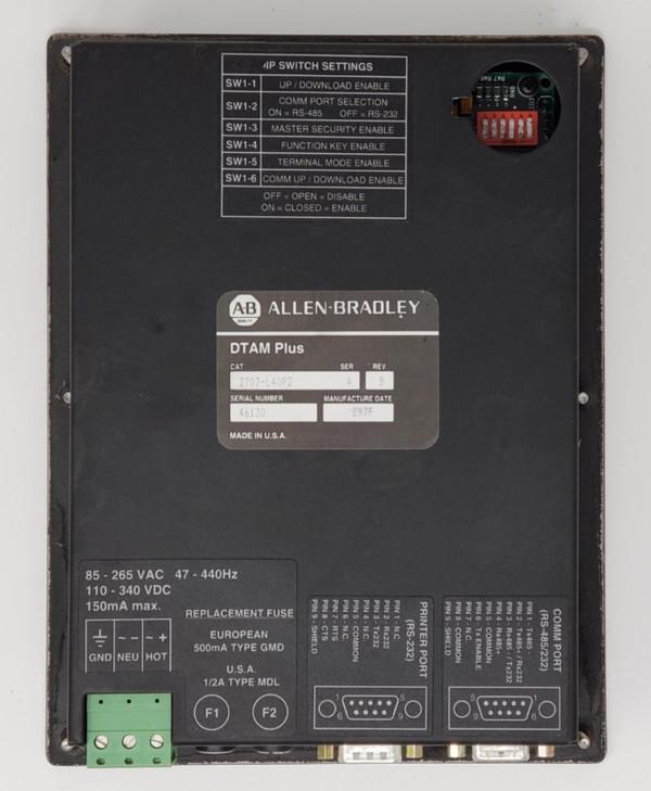 ALLEN-BRADLEY DTAM Plus Operator Interface PANEL DISPLAY A-B 2707-L40P2