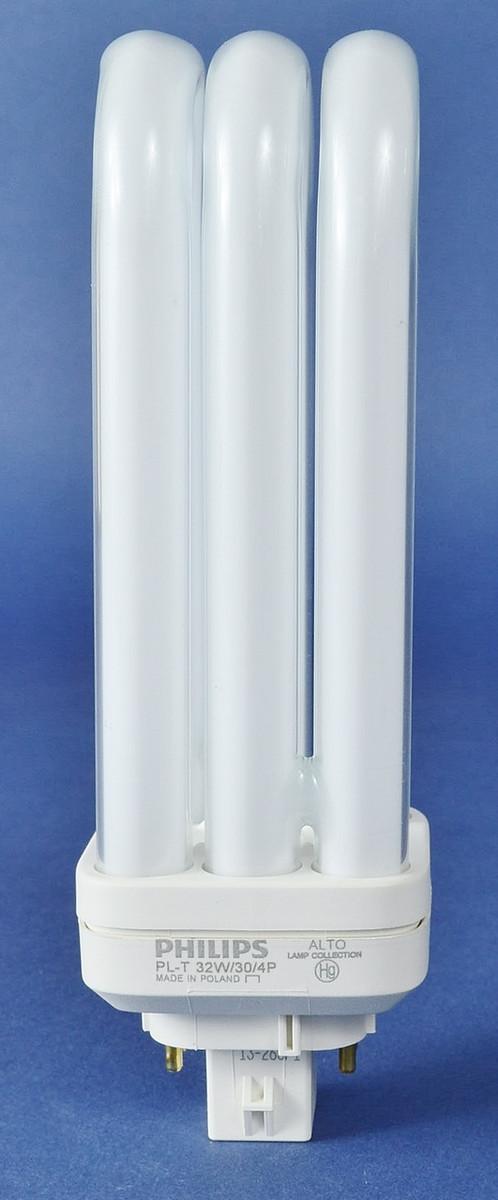 Philips 268326 PL-T 32W/30/4P Alto 4 PIN Triple Tube Compact Fluorescent Bulb