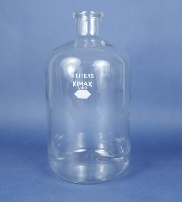 Kimble Kimax 4L Laboratory Glass KG-33 Heavy Duty Serum Bottle 4000ML 14960-4
