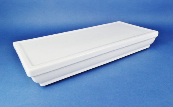Kohler White Memoirs Stately Toilet Tank Cover, Part number 84407, Lid for K-4464-0 Tank