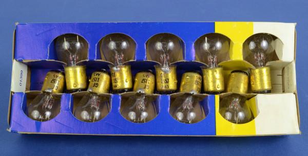GE 1157 HD 12V Park & Turn Light Bulbs, Box of 10, New Old Stock