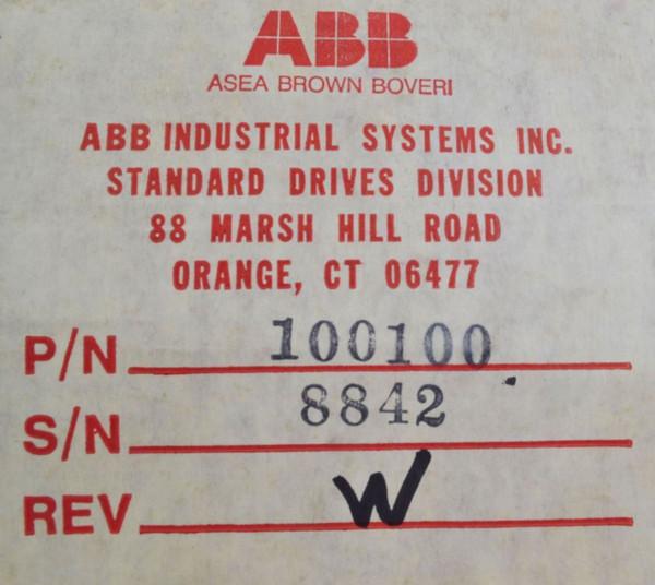 ASEA BROWN BOVERI  ABB 1-100100 Rev. W