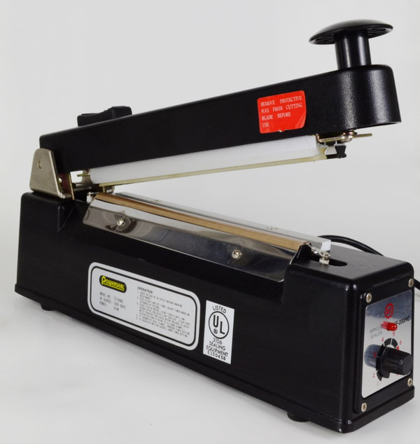 "POWERSEAL POLYBAG IMPULSE SEALER W/CUTTER 8"" up to 6mil Thick Sealing TC1008C"