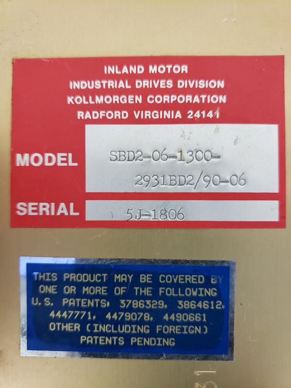 KOLLMORGEN SBD2-06-1300-2931BD2/90-06 Inland Servo Drive Motor Control Board, Rare!
