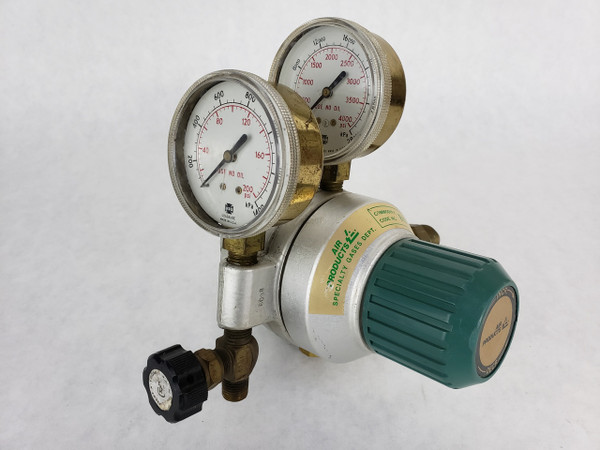 AIR PRODUCTS Specialty Gas Regulator with Gauges E12-Q-N515C 4000psi