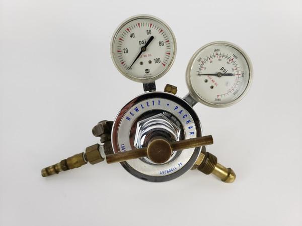 HEWLETT PACKARD 19057A GAS PRESSURE REGULATOR with Dual Gauges