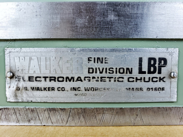 "Electromagnetic Chuck  8"" x 18"", Walker LBP Fine Pole, with Controller"