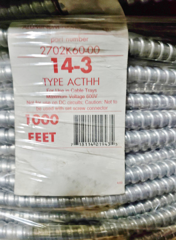 ARMORED CABLE AC 14-3 ACTHH