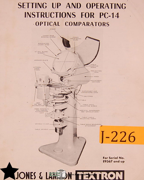 JONES & LAMSON PC-14A Optical Comparator