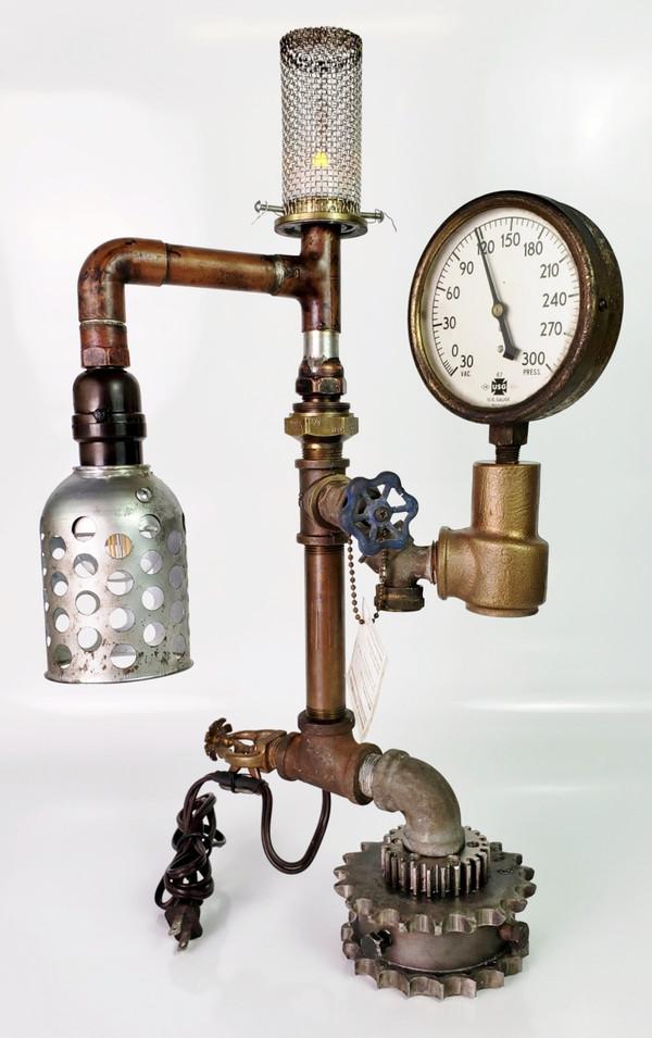 Tealight Gauge Lamp  - Unique Industrial Steampunk Design