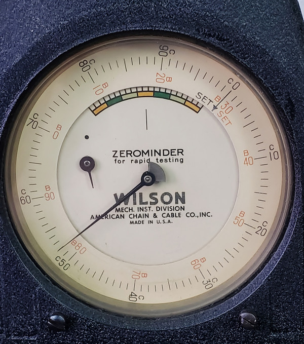 WILSON ROCKWELL HARDNESS TESTER Model 1JR with Tips Excellent Condition!