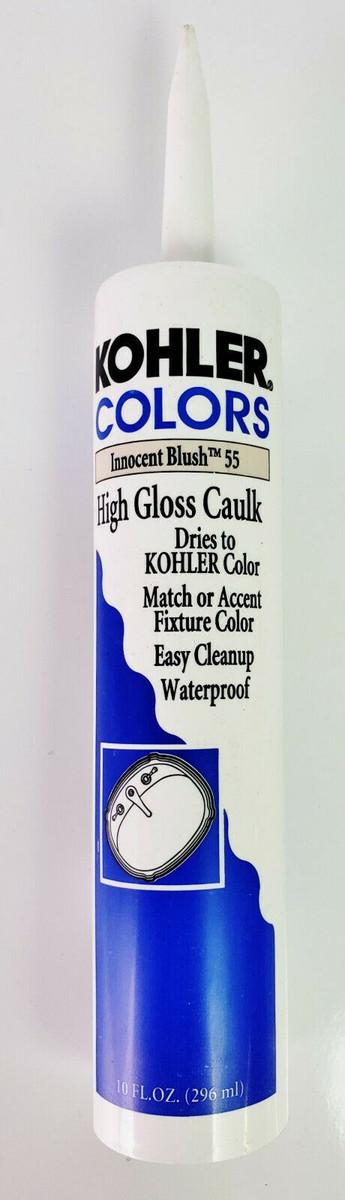 KOHLER COLORS CAULK Innocent Blush 55 High Gloss, Matches Kohler Fixture Color!