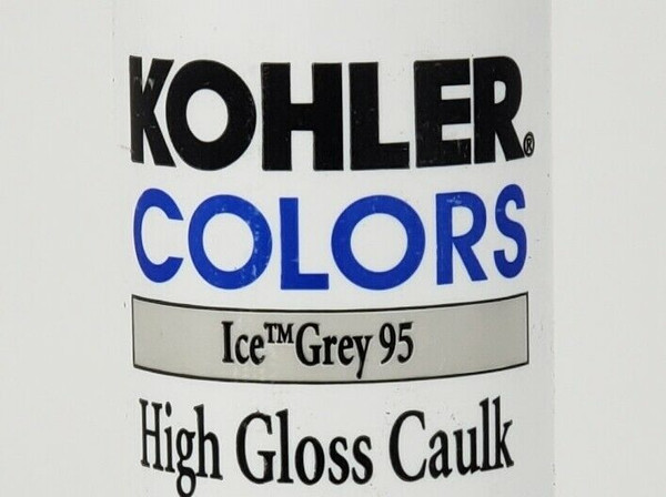 KOHLER COLORS CAULK Ice Grey 95, High Gloss, Matches Kohler Fixture Color! Rare!