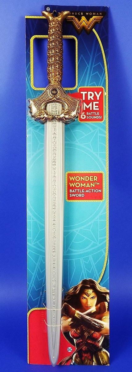 Wonder Woman Mattel Toy Sword Authentic - Costuming or Kids 6 Sounds NEW!