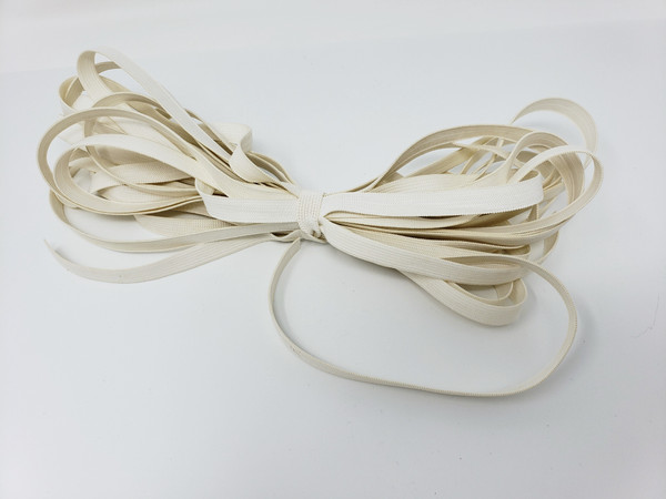 """ELASTIC 1/2"""" 10 yards Flat Non-Roll Off White Woven, Crafts, Masks, Lingerie..."""