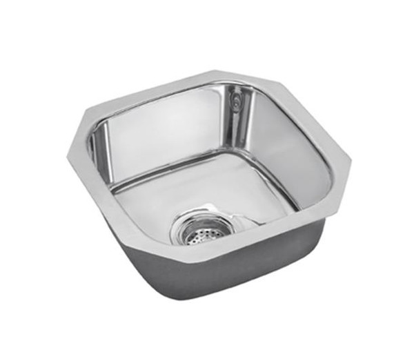 ELKAY STAINLESS KITCHEN SINK Single Bowl 14x16 Undermount Mirror SCUH1416SM NEW!