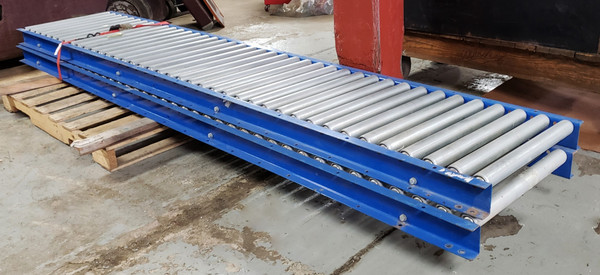 """ROLLER GRAVITY CONVEYOR, 10 Ft Long, 24"""" Wide, Excellent Condition!"""