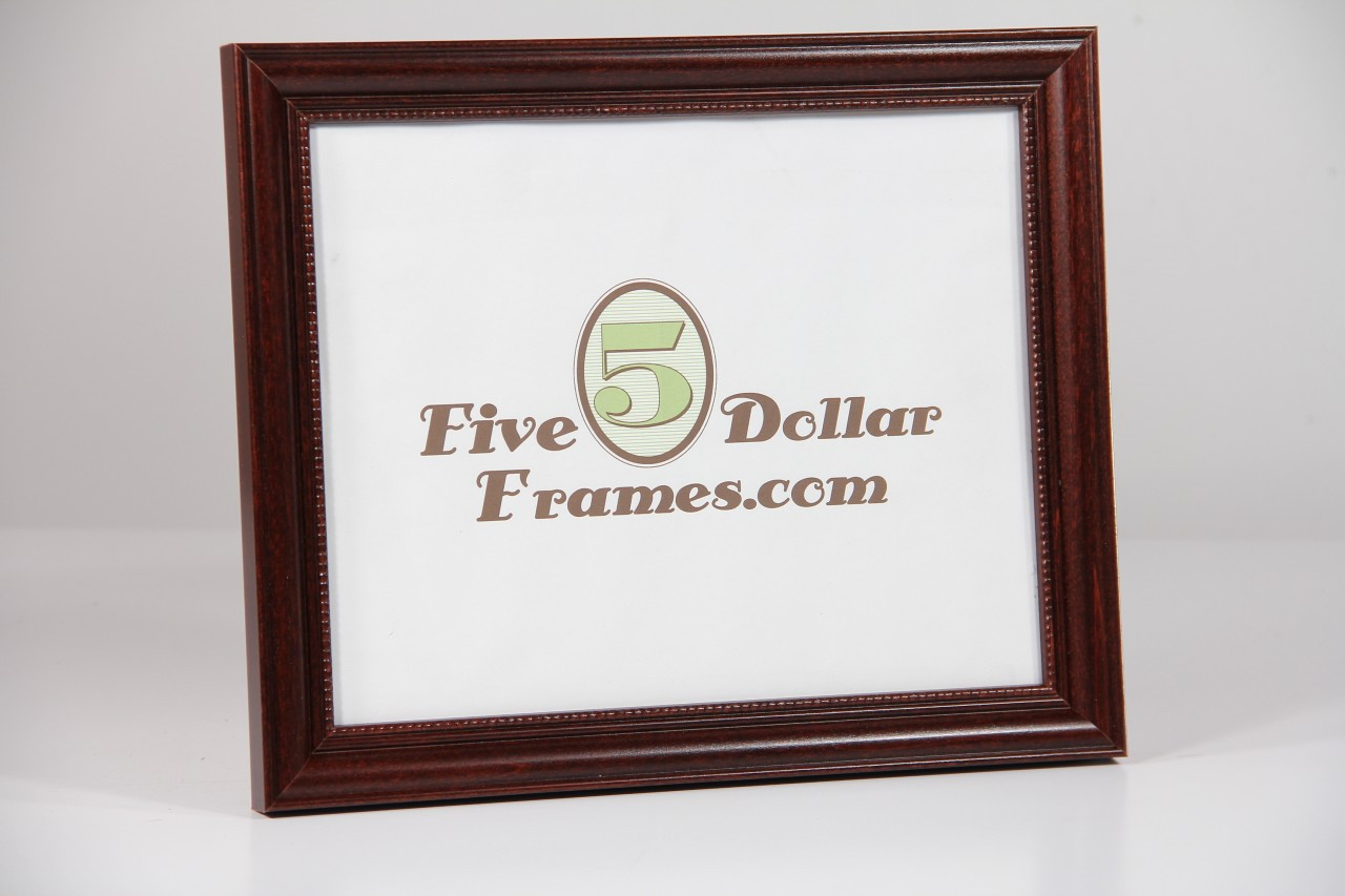 Traditional Mahogany Picture Frame with Beads