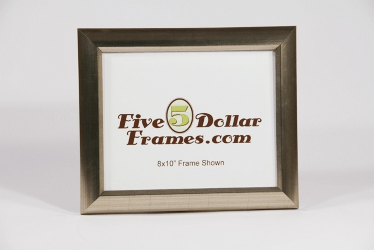 6570 1.25 in silver leaf slope dome picture frame