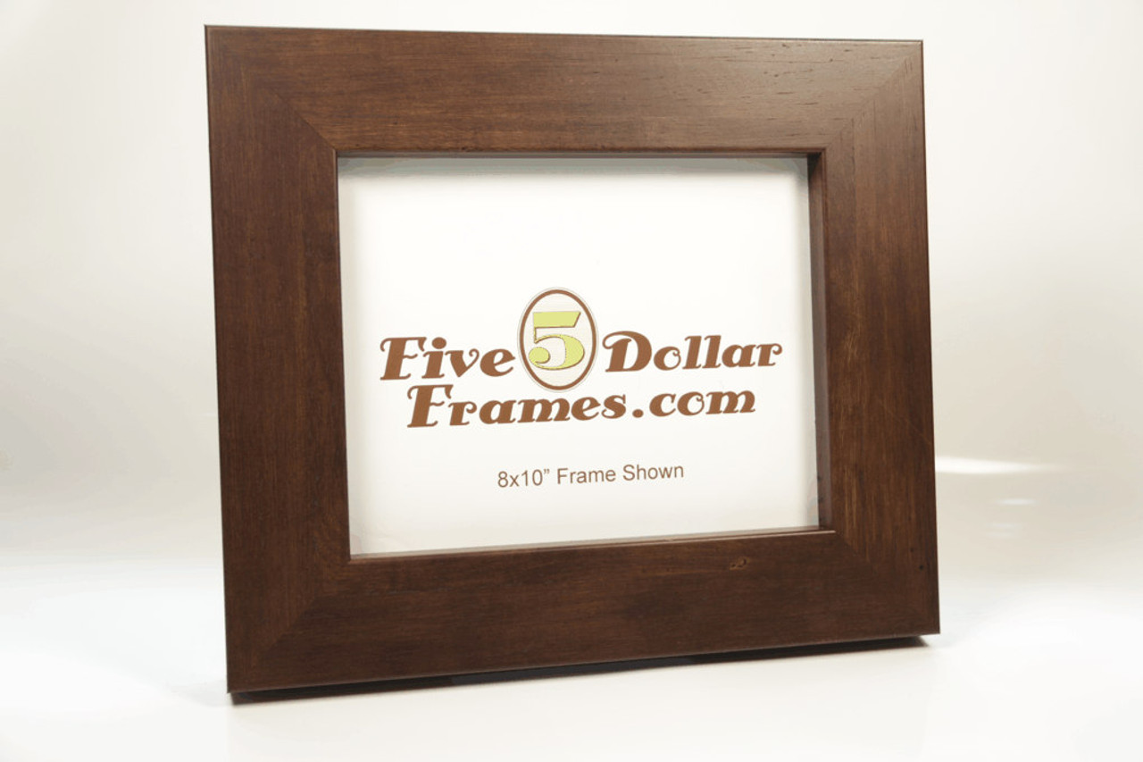 54060 2.25 in Contemoprary Distressed Walnut Picture Frame