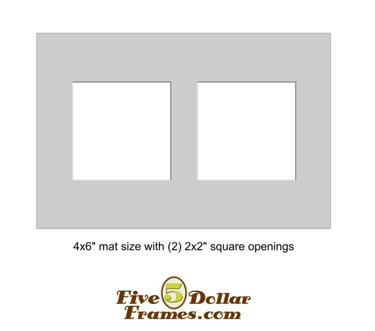 """4x6"""" - Double 2"""" Square Opening"""