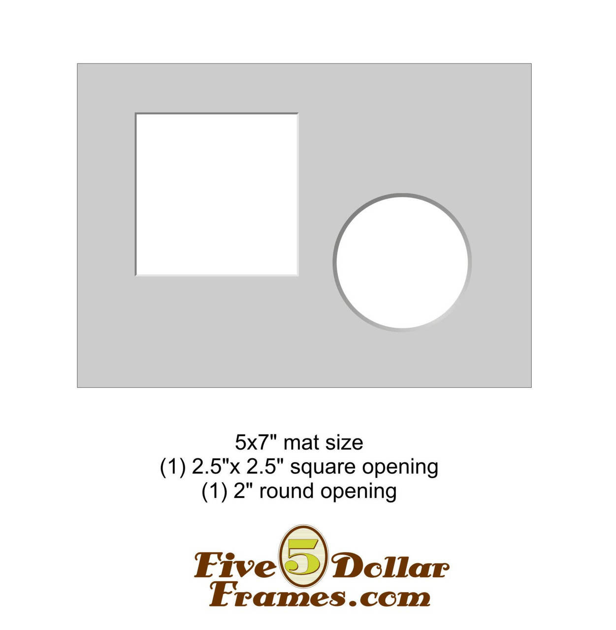 "5x7"" Matboard - 4 Square openings"