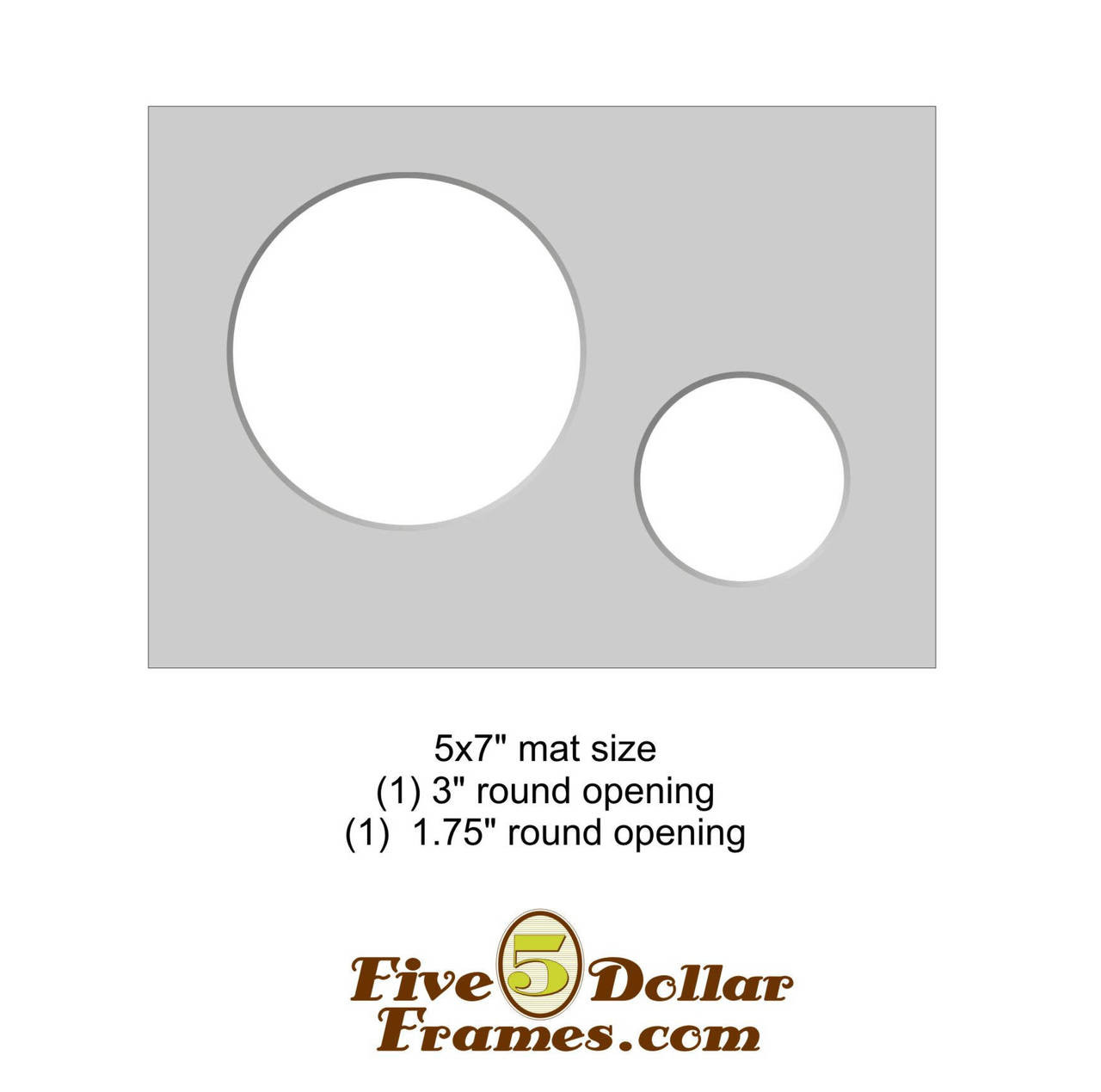 "5x7"" Matboard - 2 Circle Openings"