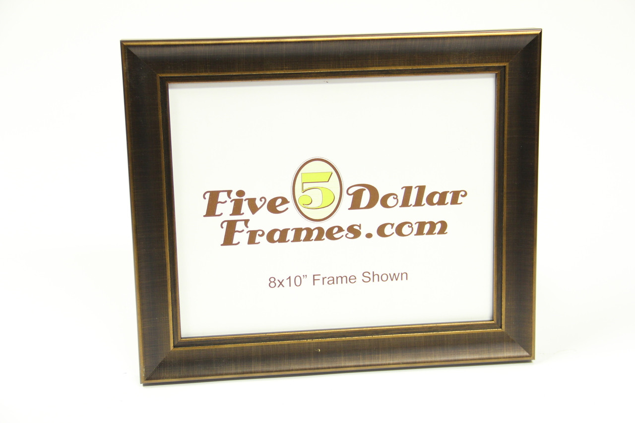 "10236 1.25"" Bronze Contemporary Slope Picture Frame"