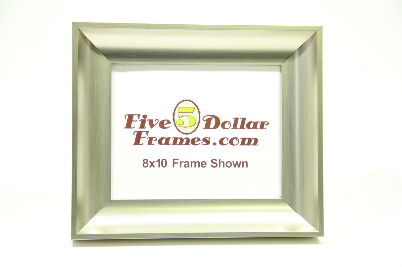 """273-23  2"""" Tall Silver Scoop Picture Frame"""