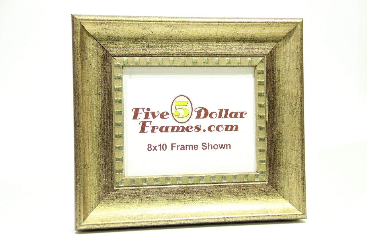 "83208  3.5"" Antique Silver Slope w/Detail Picture Frame"