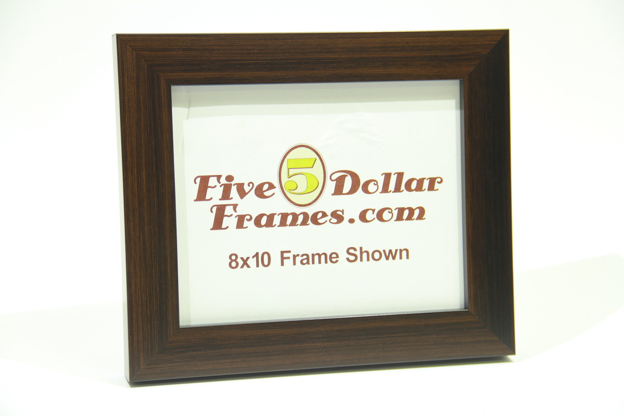 """141-21 1.5"""" Dark Walnut Stained Flat Face Picture Frame"""