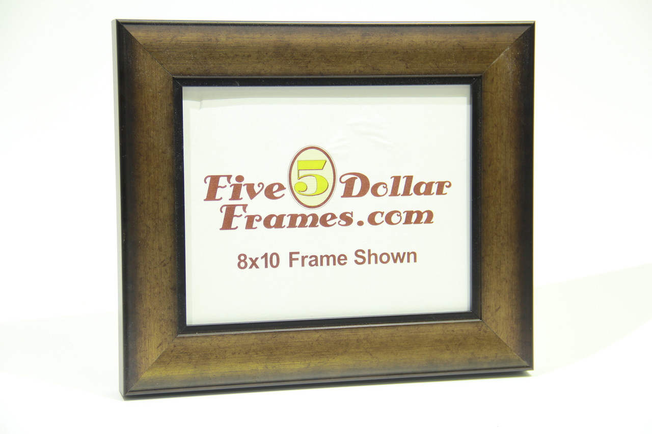"10240 2"" Vintage Gold Slope w/Decorative Step Picture Frame"
