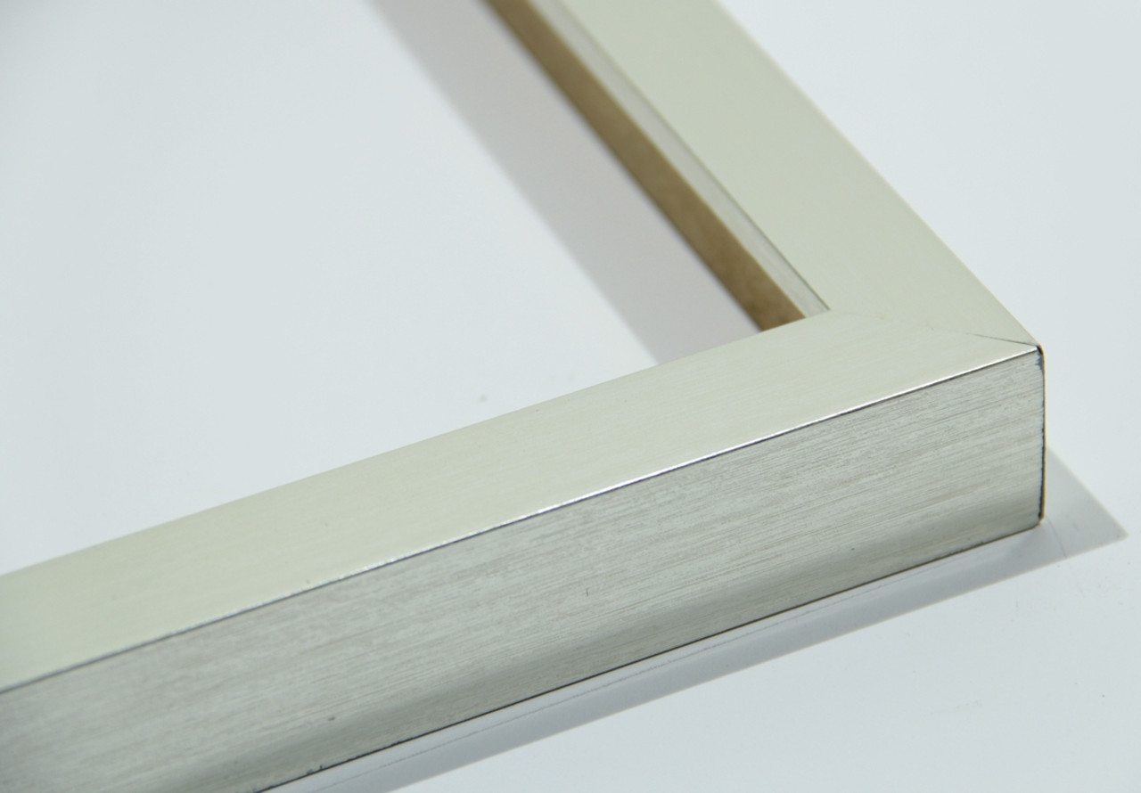 """145-33 1.25"""" Flat Silver Modern Picture Frame"""