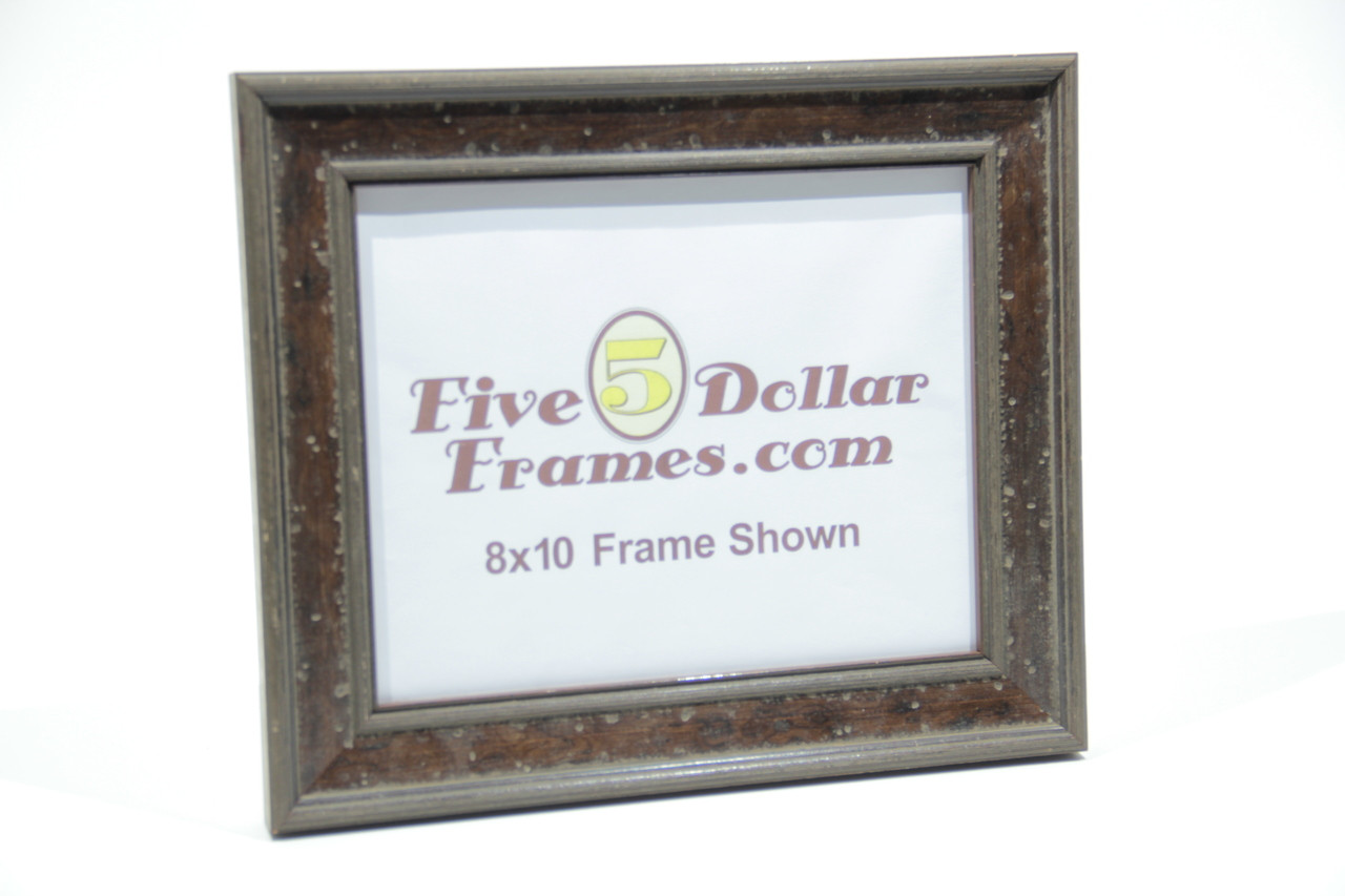 "296-21 1.75"" Classic Aged Brown Distressed Picture Frame"