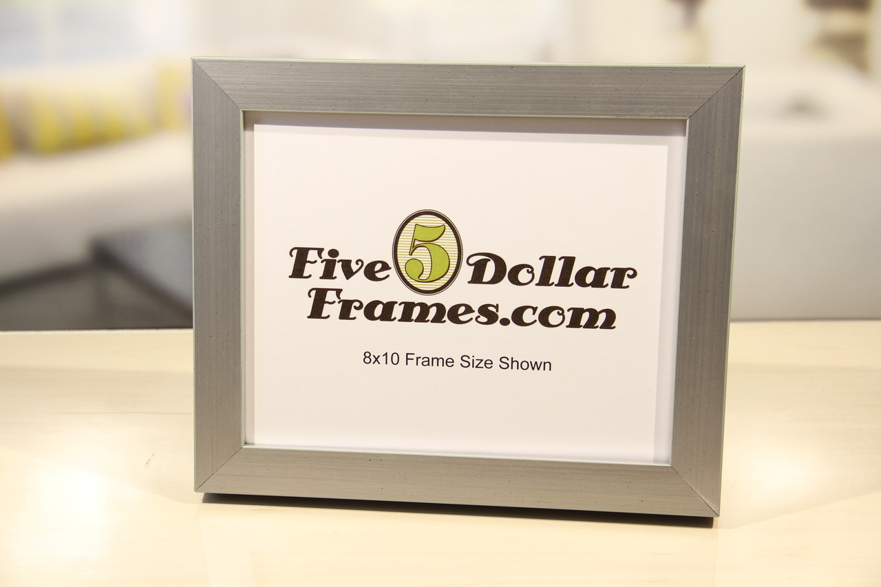 Square Brushed Silver Picture Frame