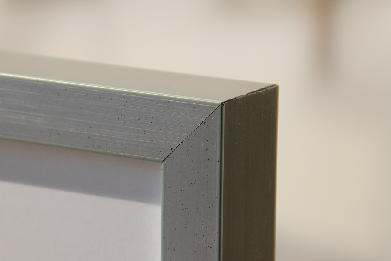 Square Brushed Silver Highlights Picture Frame
