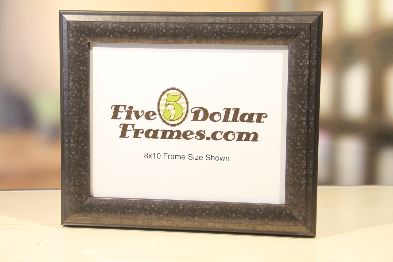 Speckled Silver Contemporary Picture Frame