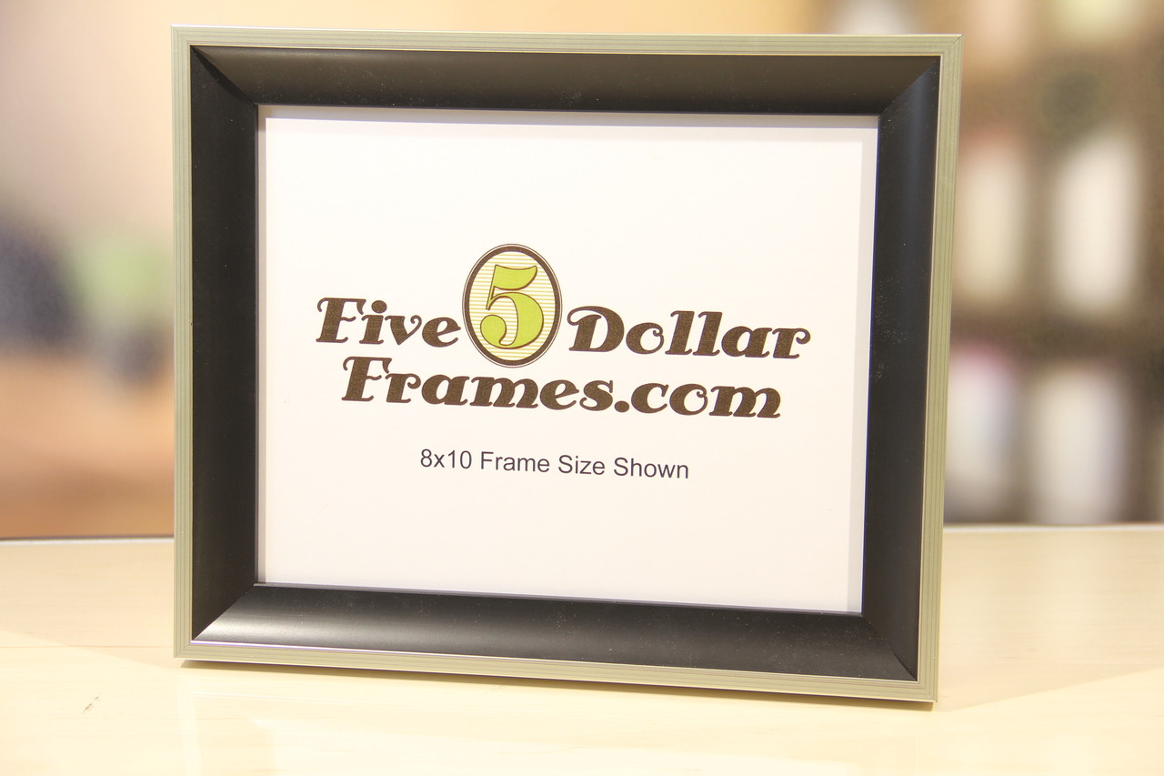 Silver and Black Scoop Picture Frame