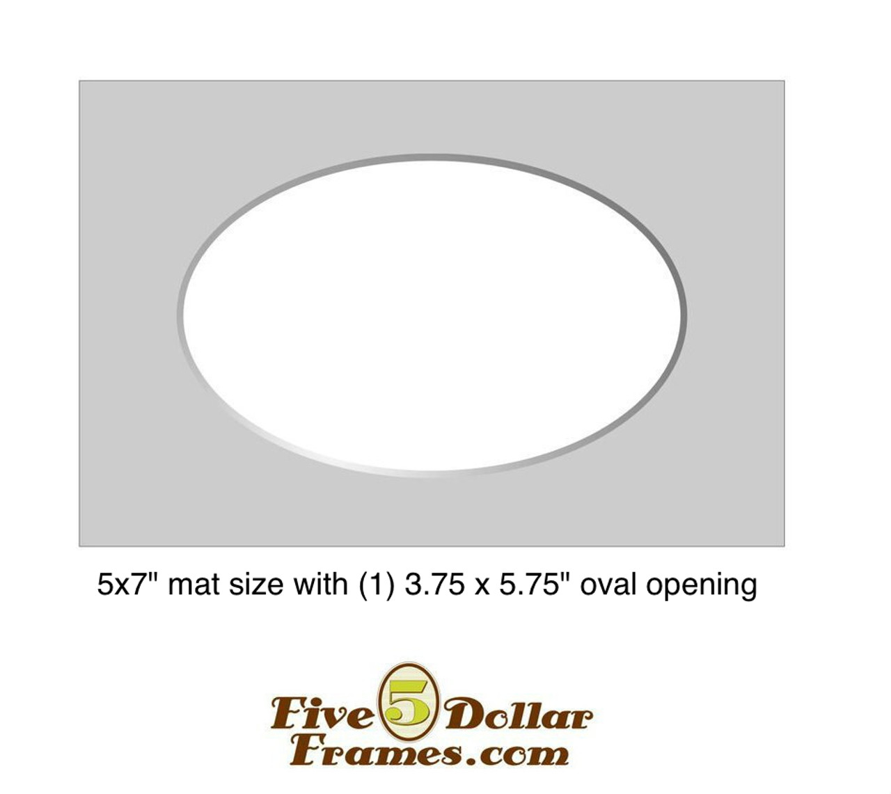"5x7"" Matboard - Single Oval"