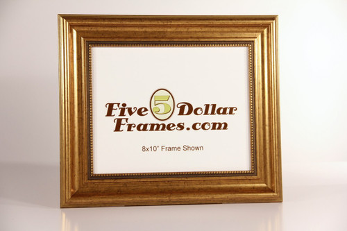 Traditional Gold Leaf with Decorative Bead Picture Frame