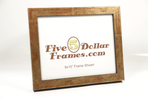 52G 1.00 in Burnished Gold Leaf wRed Undertones Picture Frame