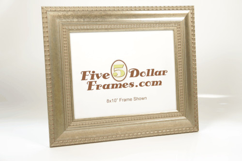 6334 2.25 in Silver Leaf Dutch Ripple Picture Frame