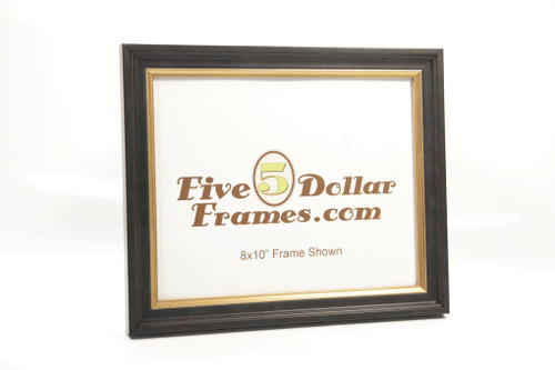 Traditional Satin Black and Gold Diploma  Picture Frame