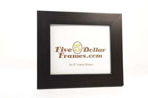 Modern Expresso Slight Dome Picture Frame