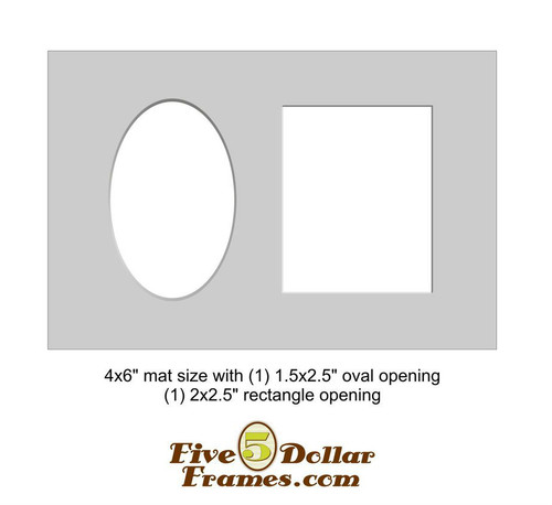 "4x6"" Matboard - Oval and Rectangular Openings"