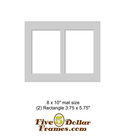 "8x10"" Matboard - 2 Rectangle Openings"