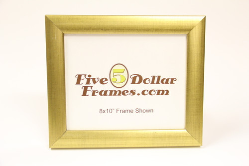 6379 1.5 Bright Gold Rounded w/Brush Strokes and Copper Speckles Picture Frame