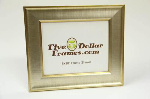 "8985 2.5"" Gold/Silver Slope Transitional Picture Frame"
