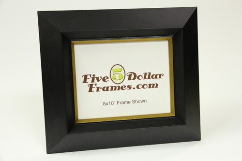 "PG 913 3.25"" Deep Slope Satin Black w/Gold Edge Picture Frame"