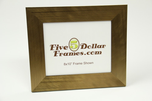 "80413 2.5"" Bronze Florentine Slope w/Black Back Picture Frame"